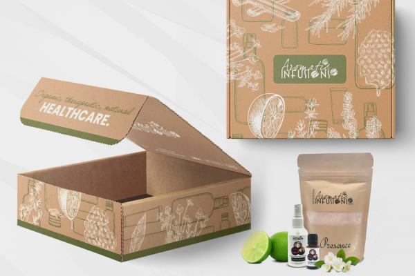 Package Design Aromatic Infusions 600x400